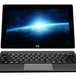 """CX 2en1 10.1"""", Windows 10, QuadCore, Tablet Notebook, teclado rigido"""